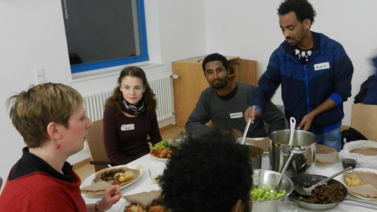 3. culture kitchen: Injera und Zigni – sehr lecker!
