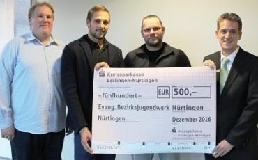 Herzlichen Dank an die KSK Esslingen –  Spende für neuen ejbn Bus!!!