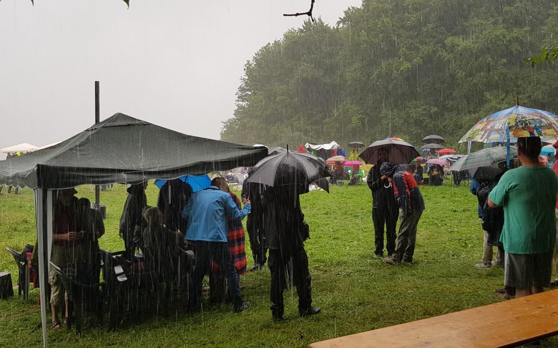 Dem Regen getrotzt