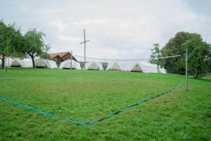Volleyballnetz auf dem Zeltplatz in Immenried
